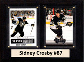 "NHL 6""X8"" Sidney Crosby Pittsburgh Penguins Two Card Plaque"