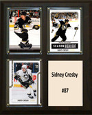 "NHL 8""x10"" Sidney Crosby Pittsburgh Penguins Three Card Plaque"