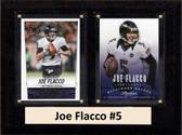 "NFL 6""X8"" Joe Flacco Baltimore Ravens Two Card Plaque"