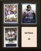 "NFL 8""x10"" Joe Flacco Baltimore Ravens Three Card Plaque"