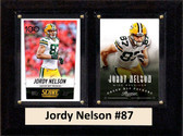 "NFL 6""X8"" Jordy Nelson Green Bay Packers Two Card Plaque"