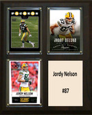 "NFL 8""x10"" Jordy Nelson Greenbay Packers Three Card Plaque"