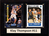 "NBA 6""X8"" Klay Thompson Golden State Warriors Two Card Plaque"