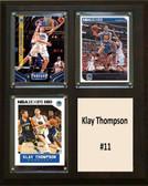 "NBA 8""x10"" Klay Thompson Golden State Warriors Three Card Plaque"