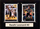 "NBA 6""X8"" Kwahi Leonard San Antonio Spurs Two Card Plaque"