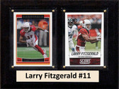 "NFL 6""X8"" Larry Fitzgerald Arizona Cardinals Two Card Plaque"