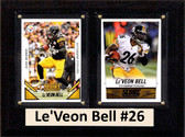 "NFL 6""X8"" Le'Veon Bell Pittsburgh Steelers Two Card Plaque"