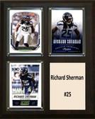 "NFL 8""x10"" Richard Sherman Seattle Seahawks Three Card Plaque"