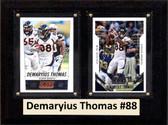 "NFL 6""X8"" Demaryius Thomas Denver Broncos Two Card Plaque"