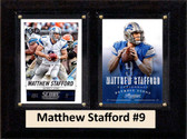 "NFL 6""X8"" Matthew Stafford Detroit Lions Two Card Plaque"
