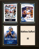 "NFL 8""x10"" Matthew Stafford Detroit Lions Three Card Plaque"