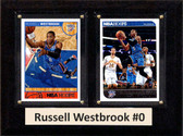 "NBA 6""X8"" Russell Westbrook Oklahoma City Thunder Two Card Plaque"