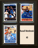 "NBA 8""x10"" Russell Westbrook Oklahoma City Thunder Three Card Plaque"