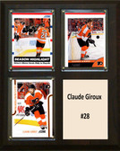 "NHL 8""x10"" Claude Giroux Philadelphia Flyers Three Card Plaque"
