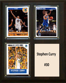 "NBA 8""x10"" Stephen Curry Golden State Warriors Three Card Plaque"