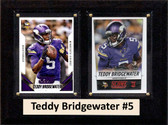 "NFL 6""X8"" Teddy Bridgewater Minnesota Vikings Two Card Plaque"