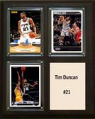 "NBA 8""x10"" Tim Duncan San Antonio Spurs Three Card Plaque"