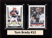 "NFL 6""X8"" Tom Brady New England Patriots Two Card Plaque"
