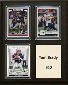 "NFL 8""x10"" Tom Brady New England Patriots Three Card Plaque"