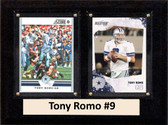 "NFL 6""X8"" Tony Romo Dallas Cowboys Two Card Plaque"