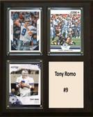 "NFL 8""x10"" Tony Romo Dallas Cowboys Three Card Plaque"