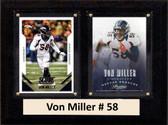 "NFL 6""X8"" Von Miller Denver Broncos Two Card Plaque"