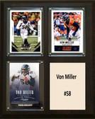 """NFL 8""""x10"""" Von Miller Denver Broncos Three Card Plaque"""