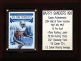 """NFL 6""""X8"""" Barry Sanders Detroit Lions Career Stat Plaque"""