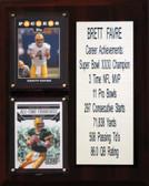 """NFL 8""""X10"""" Brett Favre Green Bay Packers Career Stat Plaque"""