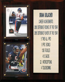 "NFL 8""X10"" Brian Urlacher Chicago Bears Career Stat Plaque"