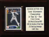 """MLB 6""""X8"""" Derek Jeter New York Yankees Career Stat Plaque"""