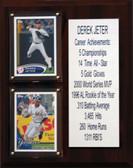 """MLB 8""""X10"""" Derek Jeter New York Yankees Career Stat Plaque"""