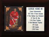 """NHL 6""""X8"""" Gordie Howe Detroit Red Wings Career Stat Plaque"""