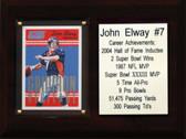 """NFL 6""""X8"""" John Elway Denver Broncos Career Stat Plaque"""