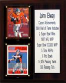 """NFL 8""""X10"""" John Elway Denver Broncos Career Stat Plaque"""