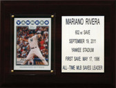 "MLB 6""X8"" Mariano Rivera New York Yankees Career Stat Plaque"
