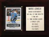 "NHL 6""X8"" Mario Lemieux Pittsburgh Penguins Career Stat Plaque"