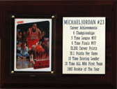 "NBA 6""X8"" Michael Jordan Chicago Bulls Career Stat Plaque"