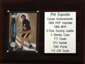 """NHL 6""""X8"""" Phil Esposito Boston Bruins Career Stat Plaque"""