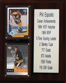 """NHL 8""""X10"""" Phil Esposito Boston Bruins Career Stat Plaque"""