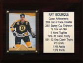 "NHL 6""X8"" Ray Bourque Boston Bruins Career Stat Plaque"