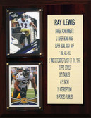 """NFL 8""""X10"""" Ray Lewis Baltimore Ravens Career Stat Plaque"""