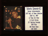 "MLB 6""X8"" Roberto Clemente Pittsburgh Pirates Career Stat Plaque"