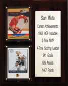 "NHL 8""X10"" Stan Mikita Chicago Blackhawks Career Stat Plaque"
