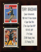 "NFL 8""X10"" Terry Bradshaw Pittsburgh Steelers Career Stat Plaque"