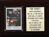 """NFL 6""""X8"""" Tony Dorsett Dallas Cowboys Career Stat Plaque"""