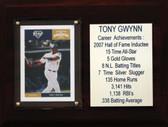 "MLB 6""X8"" Tony Gwynn San Diego Padres Career Stat Plaque"