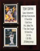 "MLB 8""X10"" Tony Gwynn San Diego Padres Career Stat Plaque"