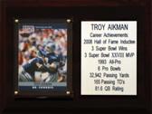 """NFL 6""""X8"""" Troy Aikman Dallas Cowboys Career Stat Plaque"""