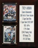 """NFL 8""""X10"""" Troy Aikman Dallas Cowboys Career Stat Plaque"""